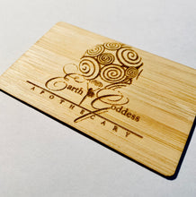 Load image into Gallery viewer, NFC Business card - Sustainable Bamboo