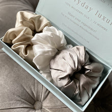 Load image into Gallery viewer, The Statement Silk Scrunchie Gift Set