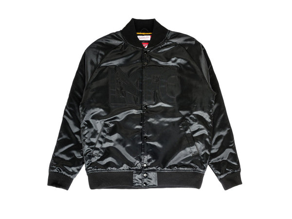 Mitchell & Ness LAFC Midnight Satin Bomber Jacket Niky's Exclusive