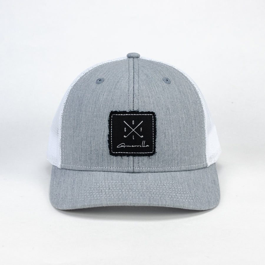 Frayed Black Patch Hat