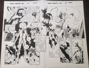 AMAZING SPIDER-MAN #800 CENTER-FOLD 2 PAGES WOW - BY STUART IMMONEN