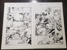 Load image into Gallery viewer, UNCANNY X-MEN #389 - 2 PAGES WOLVERINE VS ROGUE - Salvador Larroca / Art Thibert