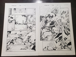UNCANNY X-MEN #389 - 2 PAGES WOLVERINE VS ROGUE - Salvador Larroca / Art Thibert