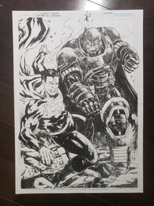 PIN-UP - SUPERMAN vs BATMAN - LEONARDO GONDIM - 11x17