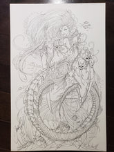 Load image into Gallery viewer, PIN-UP / COVER - JAMIE TYNDALL - LADY DEATH AS MERMAID