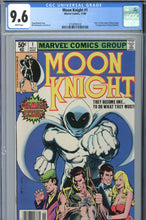 Load image into Gallery viewer, Moon Knight #1 CGC 9.6 Newsstand