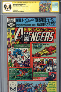 Avengers Annual #10 CGC 9.4 SS Signed Remarked Milgrom