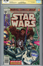 Load image into Gallery viewer, Star Wars #3 CGC 9.8 SS Signed Remarked Tie Palmer