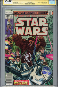 Star Wars #3 CGC 9.8 SS Signed Remarked Tie Palmer