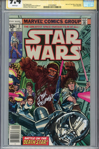 Star Wars #3 CGC 9.4 SS Signed Remarked  Palmer