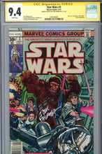 Load image into Gallery viewer, Star Wars #3 CGC 9.4 SS Signed Remarked  Palmer