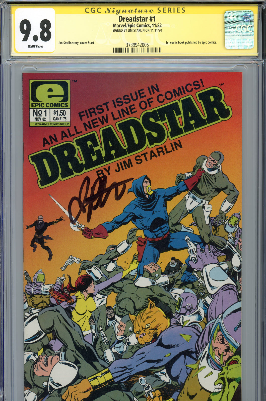 Dreadstar #1 CGC 9.8 SS Signed Starlin