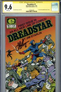 Dreadstar #1 CGC 9.6 SS Signed Starlin