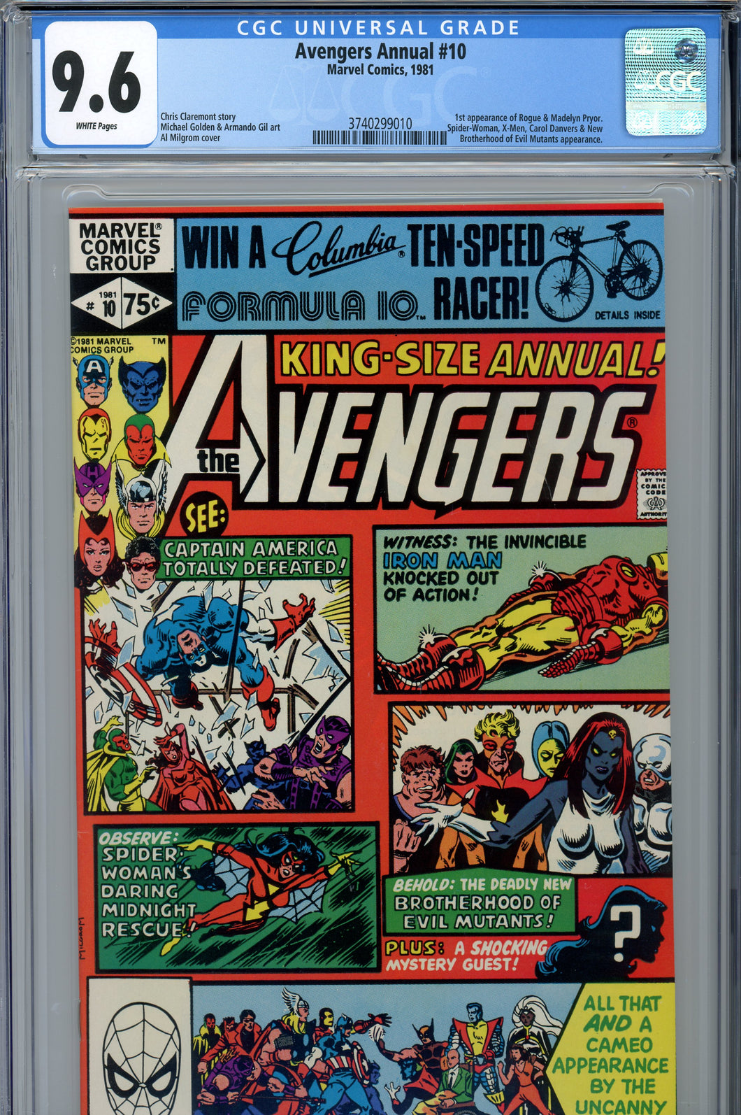 Avengers Annual #10 CGC 9.6 1st Rogue