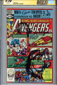 Avengers Annual #10 CGC 9.6 SS 2 x Rogue Sketch