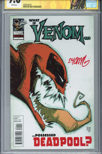 What if... Venom Possessed Deadpool #1 CGC 9.8 SS Signed Young