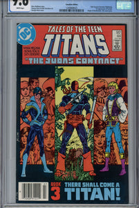 Tales of the Teen Titans #44 CGC 9.6 Canadian Price Variant