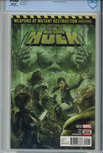 Load image into Gallery viewer, Totally Awesome Hulk #22 CBCS 9.8 1st Appearance of Weapon H