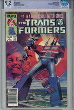 Load image into Gallery viewer, The Transformers #1 CBCS 9.2 Canadian Price Variant
