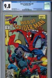 Web of Spider-Man #97 CGC 9.8 1st Appearance of Kevin Trench