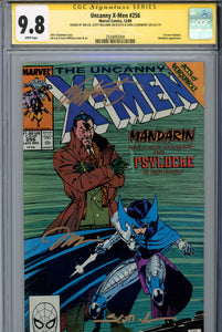 Uncanny X-Men #256 CGC 9.8 SS 1st New Psylocke Triple Signed