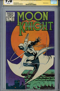 Moon Knight #27 CGC 9.8 SS Signed Miller & Sienkiewicz
