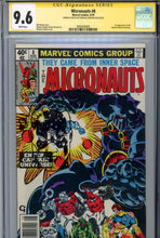 Load image into Gallery viewer, Micronauts #8 CGC 9.6 SS Golden Remark 1st Captain Universe