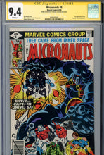 Load image into Gallery viewer, Micronauts #8 CGC 9.4 SS Golden Remark 1st Captain Universe