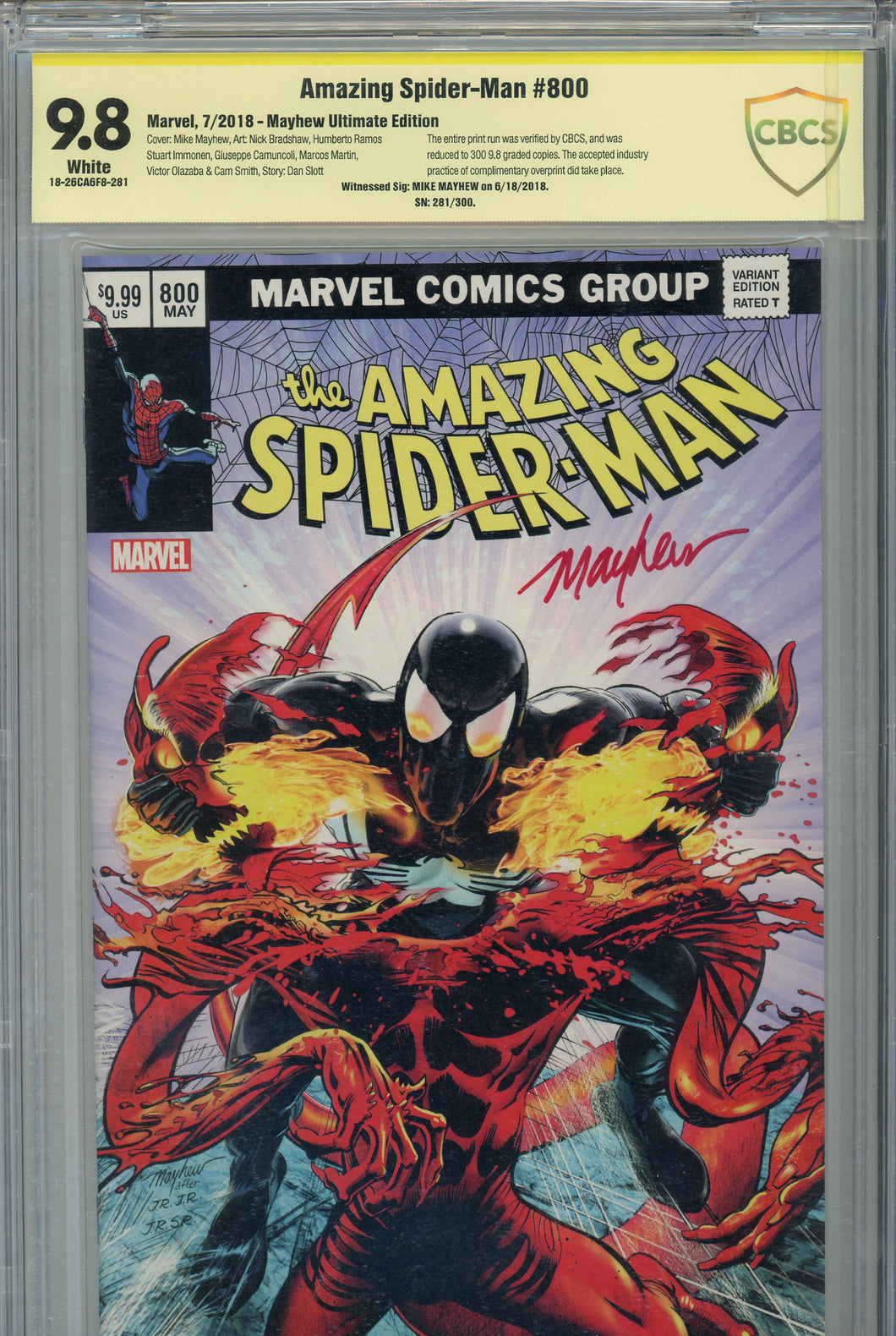 Amazing Spider-Man #800 CBCS 9.8 SS Mayhew Ultimate Edition