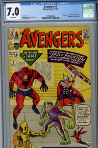 Avengers #2 CGC 7.0 1st Appearance of Space Phantom