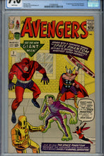 Load image into Gallery viewer, Avengers #2 CGC 7.0 1st Appearance of Space Phantom