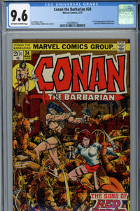 Conan The Barbarian #24 CGC 9.6 1st Red Sonja Cover