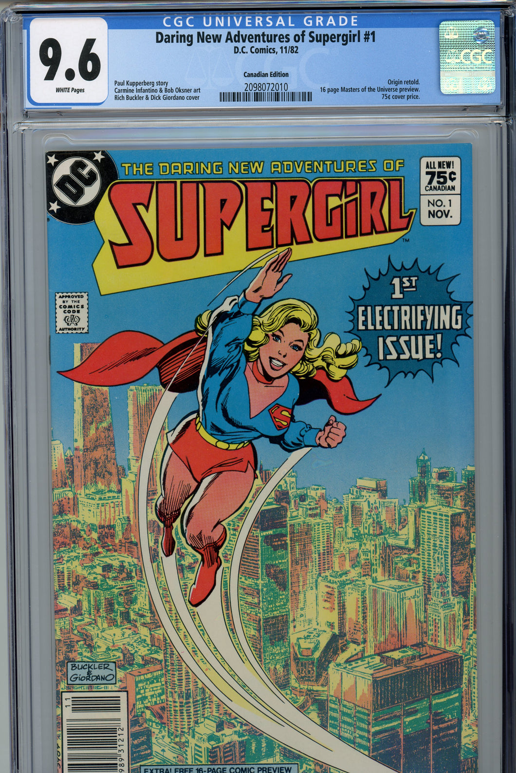 Daring New Adventures of Super-Girl CGC 9.6 Canadian Price Variant