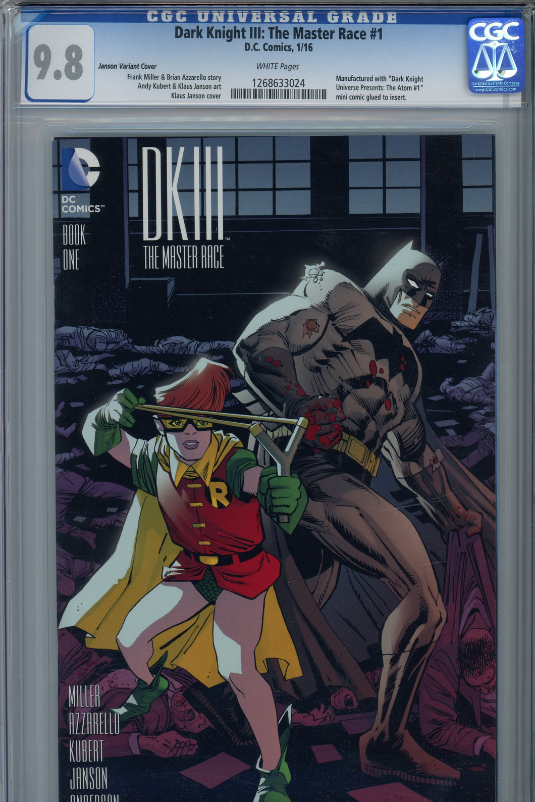 Dark Knight III: The Master Race #1 CGC 9.8 Janson Variant