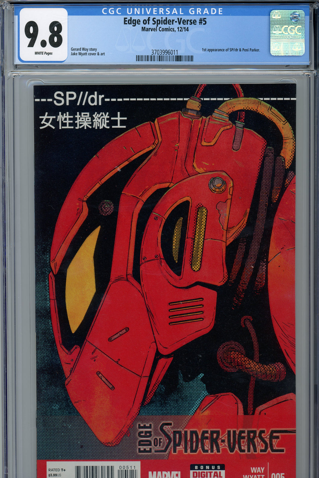 Edge of the Spider-Verse #5 CGC 9.8 1st Appearance of Peni Parker