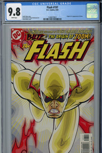 Flash #197 CGC 9.8 1st Appearance of Zoom
