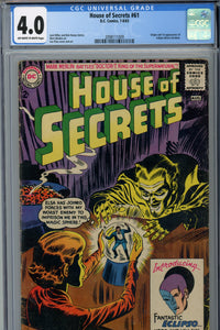 House of Secrets #61 CGC 4.0 1st Appearance of Eclipso