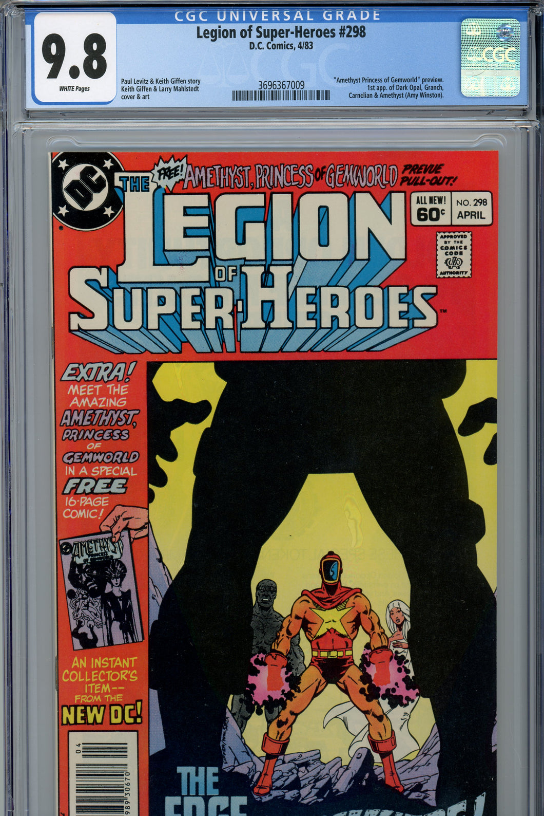 Legion of Super-Heroes #298 CGC 9.8 1st Appearance of Amethyst