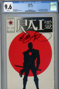 "Rai #0 CGC 9.6 ""Glossy Version"" Signed Bob Layton 1st Bloodshot"