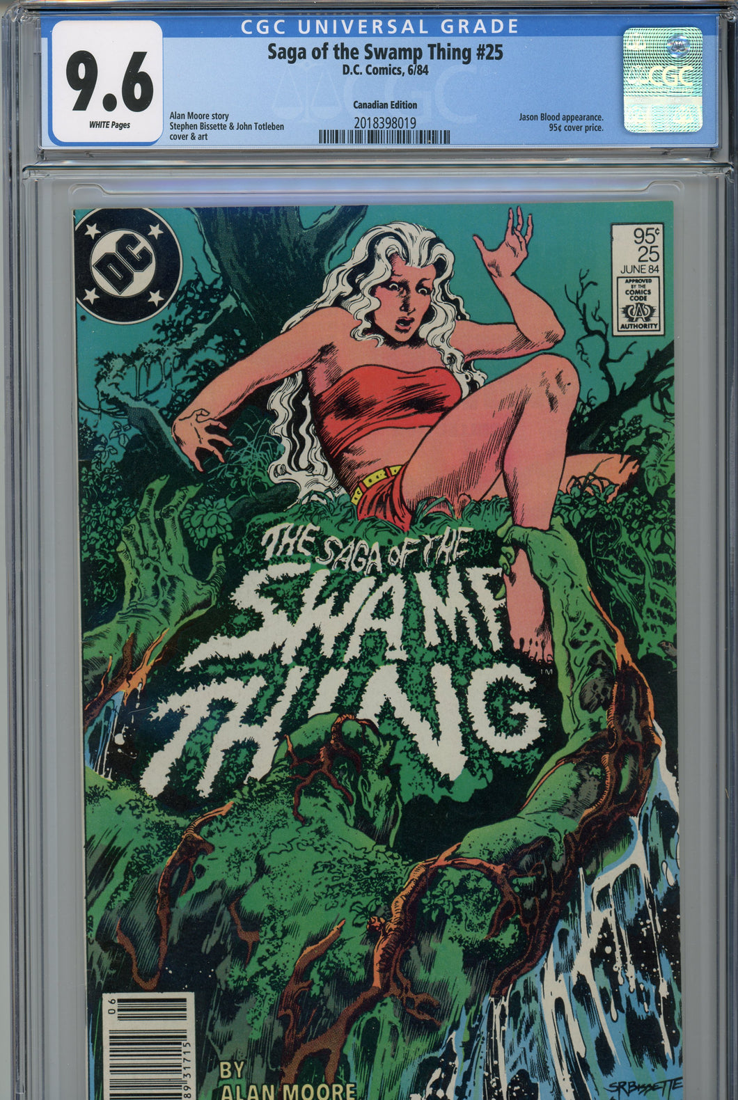 Saga of the Swamp Thing #25 CGC 9.6 Canadian Price Variant
