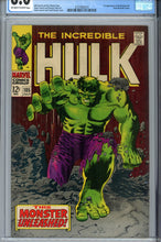 Load image into Gallery viewer, The Incredible Hulk #105 CGC 8.0 1st Missing Link