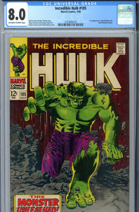 The Incredible Hulk #105 CGC 8.0 1st Missing Link
