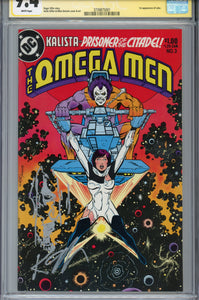 The Omega Men #3 CGC 9.4  SS Giffen Lobo Sketch