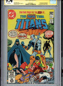 New Teen Titans #2 - FIRST DEATHSTROKE!  CGC 9.4 Signature Series White Pages - Signed Perez