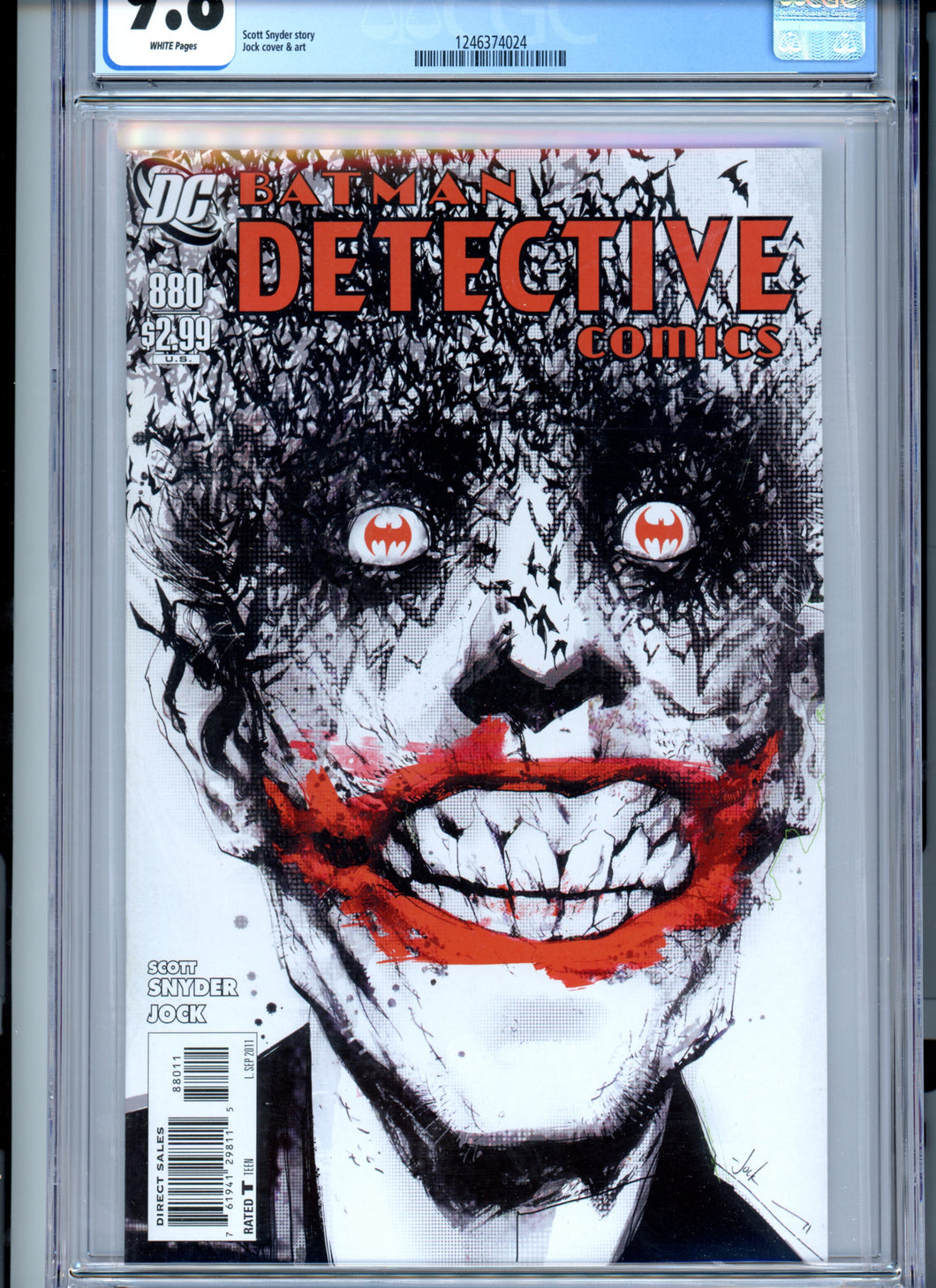 Detective Comics #880 - CGC 9.8 - White Pages - Classic Cover!  Jock