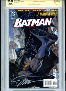 Batman #608 - HUSH - Signed Jim Lee - CBCS 9.8