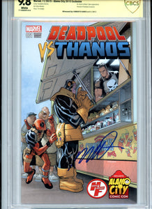 Deadpool vs Thanos #1 Variant cover (Ramos) - CBCS 9.8 - Signed by Ramos