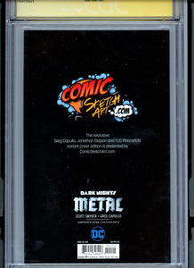Dark Nights Metal #1 - Signed Capullo / Snyder CGC 9.8 - CAPULLO VARIANT Edition (B)