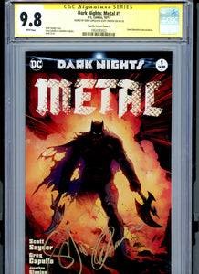 Dark Nights Metal #1 - Signed Capullo / Snyder CGC 9.8 - CAPULLO VARIANT Edition (A)