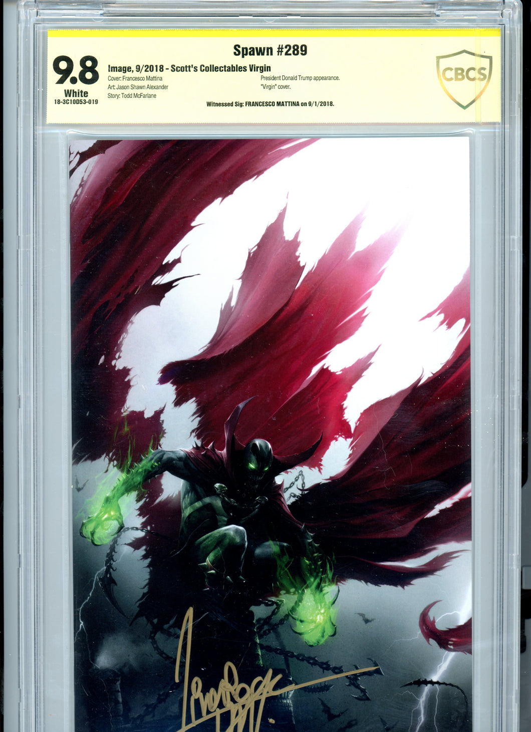 Spawn 289 - Canadian Virgin Variant - Signed by Mattina - CBCS 9.8